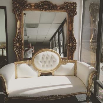 GOLD FRAME MIRROR 5'X8'