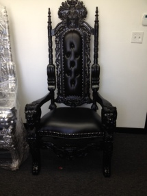 All Black Throne Chair