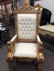 gold king throne chairs rental bride and groom chair for rent los angeles san diego for weddings event parties