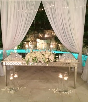 "40""x70"" Mirror Head Table"