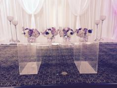 "48""x96"" Clear Plexi Glass Head Table"