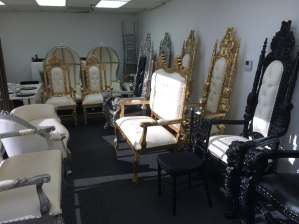 We carry a Large Selection of Throne Chairs love seats