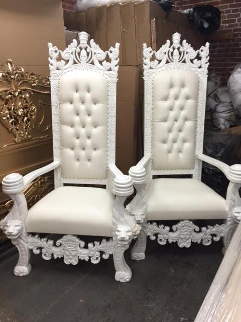 Bon White Throne Chair