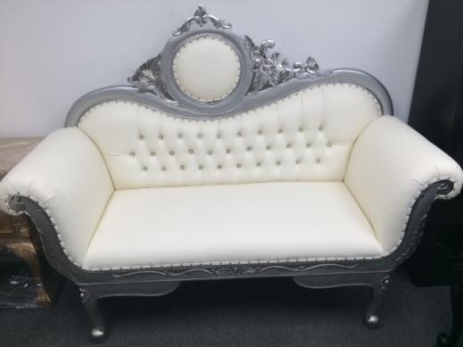 Silver Love Seat - Copy