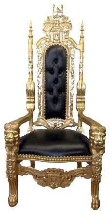 Gold and Black Throne Chair